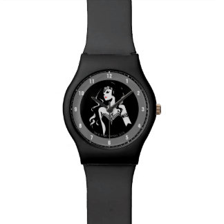 Justice League   Wonder Woman Noir Pop Art Watch