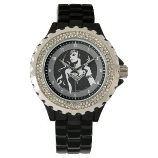 Justice League | Wonder Woman Noir Pop Art Watch