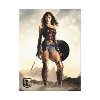 Justice League | Wonder Woman On Battlefield Canvas Print