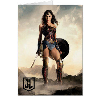 Justice League | Wonder Woman On Battlefield Card