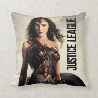 Justice League | Wonder Woman On Battlefield Throw Pillow