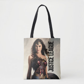 Justice League | Wonder Woman On Battlefield Tote Bag