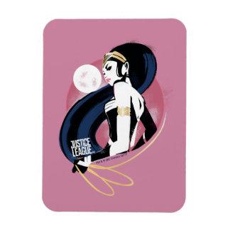 Justice League | Wonder Woman Profile Pop Art Magnet