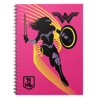 Justice League | Wonder Woman Silhouette Icon Notebook