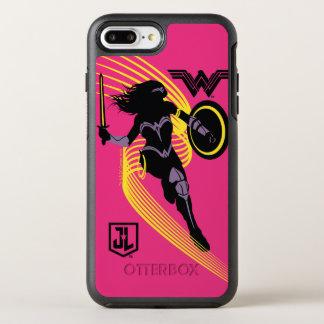 Justice League | Wonder Woman Silhouette Icon OtterBox Symmetry iPhone 8 Plus/7 Plus Case