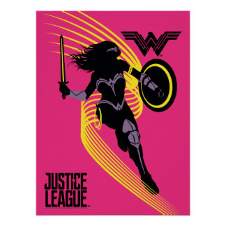 Justice League | Wonder Woman Silhouette Icon Poster