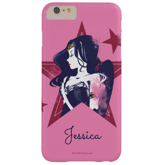 Justice League | Wonder Woman & Stars Pop Art Barely There iPhone 6 Plus Case