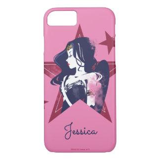 Justice League | Wonder Woman & Stars Pop Art iPhone 8/7 Case