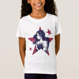 Justice League | Wonder Woman & Stars Pop Art T-Shirt