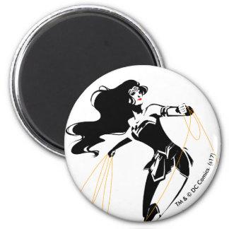 Justice League | Wonder Woman With Lasso Pop Art Magnet