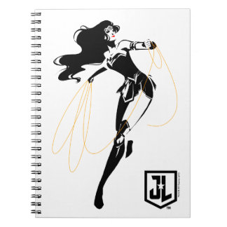 Justice League | Wonder Woman With Lasso Pop Art Notebook