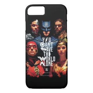 Justice League   You Can't Save The World Alone Case-Mate iPhone Case