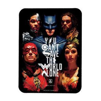 Justice League | You Can't Save The World Alone Magnet