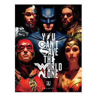 Justice League | You Can't Save The World Alone Postcard