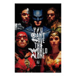 Justice League | You Can't Save The World Alone Poster