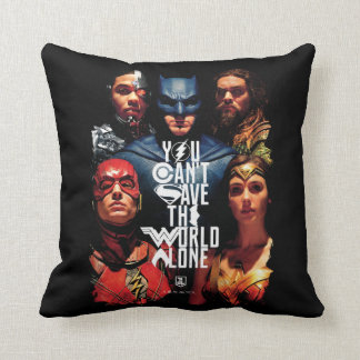 Justice League | You Can't Save The World Alone Throw Pillow