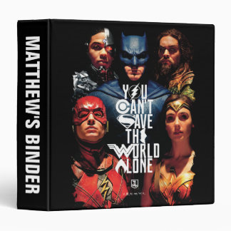 Justice League | You Can't Save The World Alone Vinyl Binders