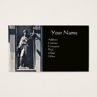JUSTICE LEGAL OFFICE,ATTORNEY Grey Agate Monogram Business Card