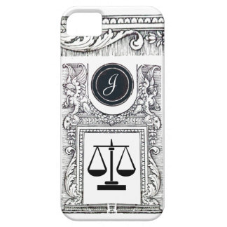 JUSTICE LEGAL OFFICE,ATTORNEY Monogram White iPhone 5 Cover
