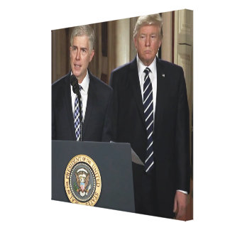 Justice Neil Gorsuch With President Donald Trump Canvas Print