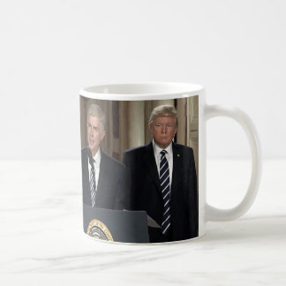 Justice Neil Gorsuch With President Donald Trump Coffee Mug
