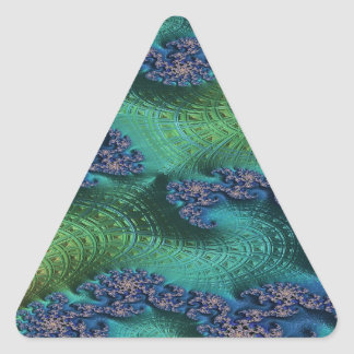 Justice of Fate Fractal Triangle Sticker