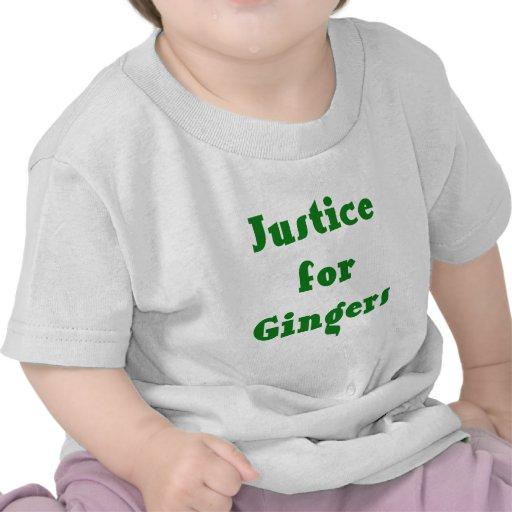 Justice pour des gingembres t-shirts