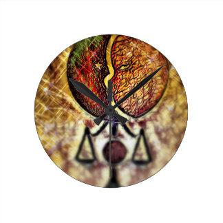 Justice Round Clock