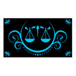 justice scale sophistications business card