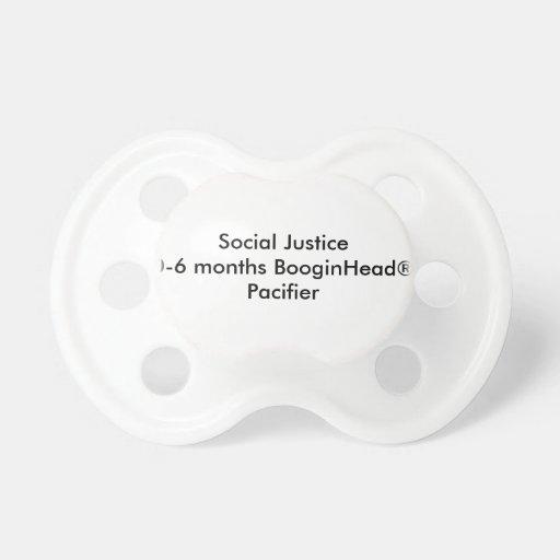 Justice sociale 0-6 mois de tétine de BooginHead®