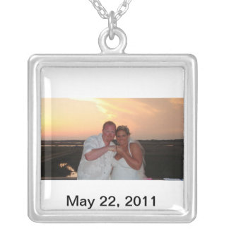 Justin and Tracy Silver Plated Necklace