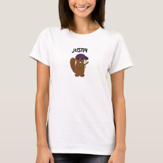 Justin Cartoon Beaver T-Shirt