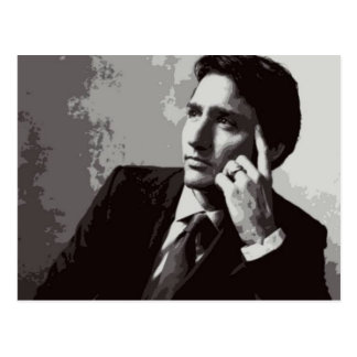 Justin Trudeau black and white Postcard