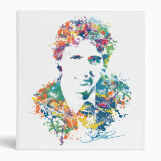 Justin Trudeau Digital Art 3 Ring Binder