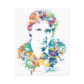 Justin Trudeau Digital Art Canvas Print