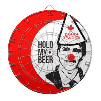 Justin Trudeau Hold my Beer Clown Canada Clown Gam Dartboard