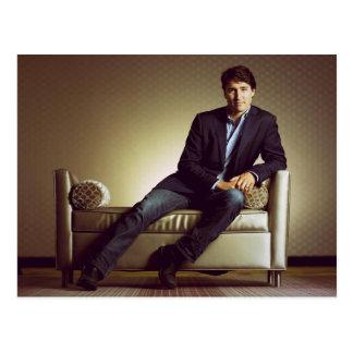 Justin Trudeau in jeans Postcard