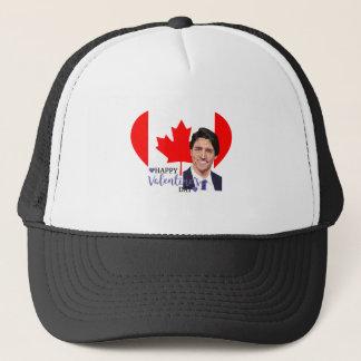 justin trudeau valentine trucker hat