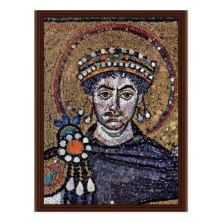 Justinian I, San Vitale (Ravenna) Choir Mosaics A Postcard