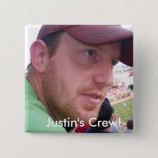 Justin's Semi-Colon Crew! 2 Inch Square Button