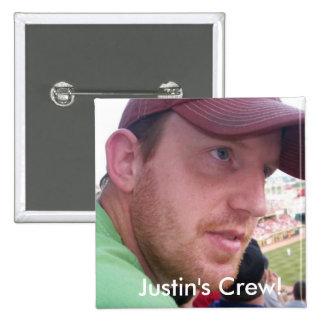 Justin's Semi-Colon Crew! 2 Inch Square Button