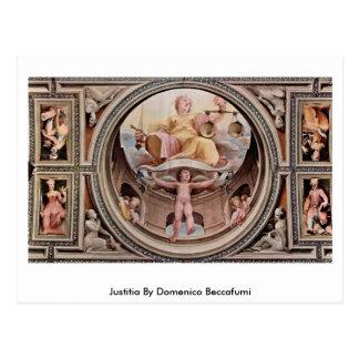 Justitia By Domenico Beccafumi Postcard