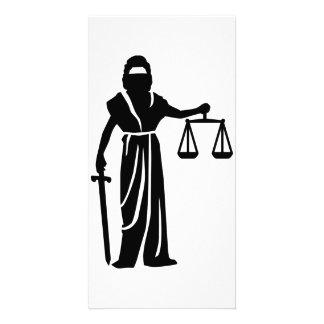 Justitia court customized photo card