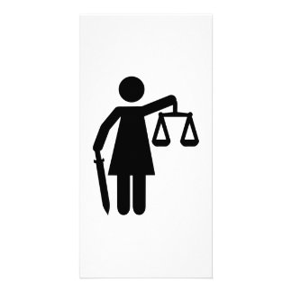 Justitia justice photo card template