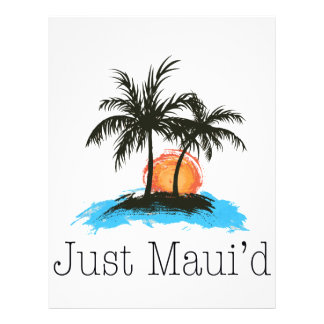 JustMauidTropical Just Maui'd Letterhead Template