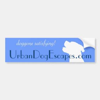 justy head cutout white, doggone satisfying!, U... Bumper Sticker