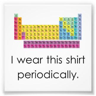 J'utilise cette chemise périodiquement tirage photo