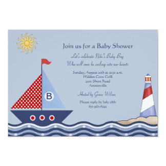 Juvenile Boy Nautical Invitation