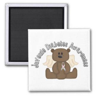 Juvenile Diabetes Awareness Bear Square Magnet