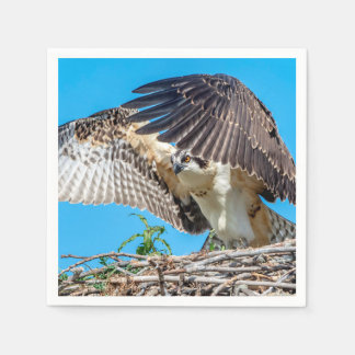 Juvenile Osprey in the nest Paper Napkin